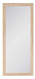 Spogulis Black Red White Kaspian 50 Sonoma Oak, stiprināms, 49x116 cm