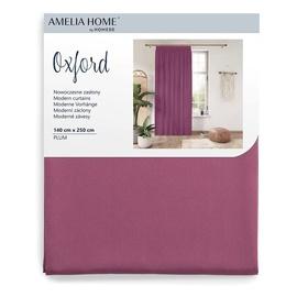 Nakts aizkari AmeliaHome Oxford Pleat, violeta, 1400x2500 mm