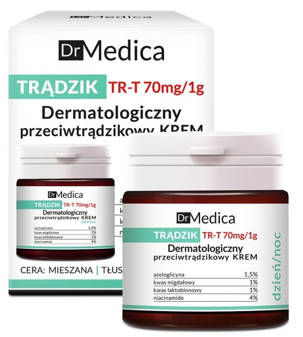 Sejas krēms Bielenda Dr. Medica Acne Dermatological Anti-Acne Cream Day & Night, 50 ml