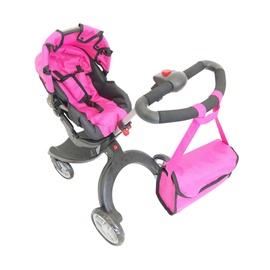 Коляска для кукол 9631 Grey/Pink