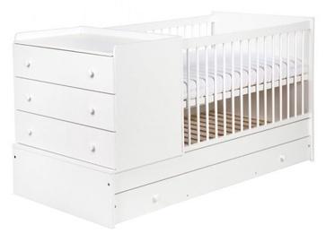 Bērnu gulta Klups Kompakt White, 176x87 cm