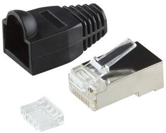 LogiLink RJ-45 Shielded Plug Connector CAT.6 Black 100pcs