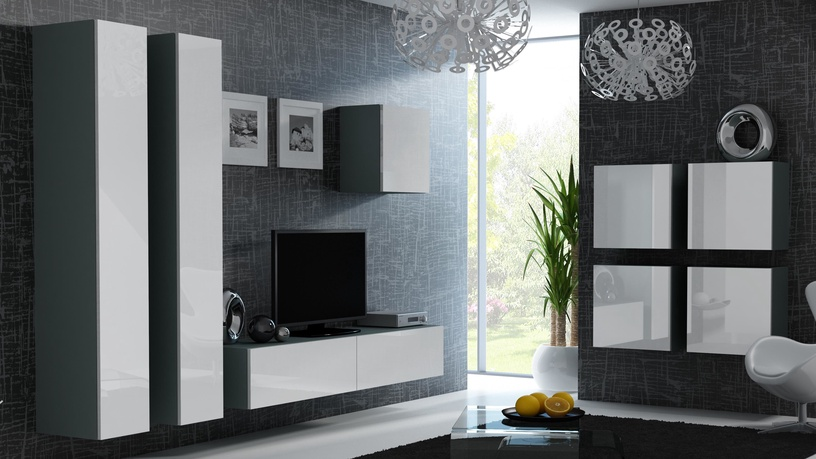 Cama Meble Vigo Square Cabinet Grey/White Gloss