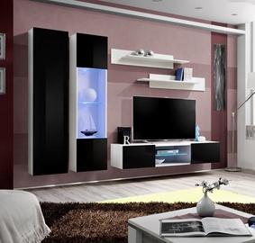 Dzīvojamās istabas mēbeļu komplekts ASM Fly O5 Black/White