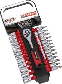 "Kreator KRT500118 Socket Set 1/2"" 28pcs"