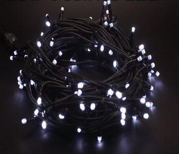 Elektriskā virtene Niveda Outdoor LED 100 Warm White + White Flashing