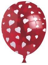 Balons VIBORG Heart 80604H, 6 gab.