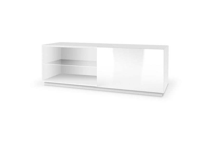TV galds Halmar Livo RTV 120S Glossy White, 1200x400x380 mm