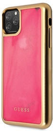 Guess Glow In The Dark Back Case For Apple iPhone 11 Pro Max Pink