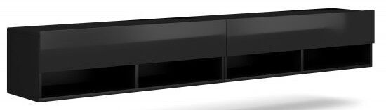 ТВ стол Vivaldi Meble Derby 280, черный, 2800x310x300 мм