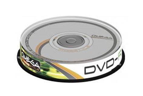 DISKS DVD-R 4,7 GB 16X CAKE10 FREESTYLE (OMEGA)