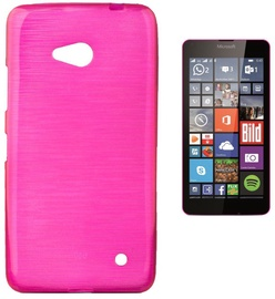Forcell Jelly Brush Back Case For Microsoft 640 Lumia Pink