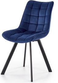 Ēdamistabas krēsls Halmar K332 Dark Blue, zila