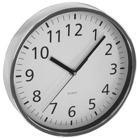 Asi Collection Wall Clock Ø 25,5cm Silver/Chrome