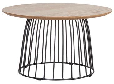 Kafijas galdiņš Home4you Helena Oak, 600x600x350 mm