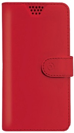 Celly Universal Wally Unica Book Case For 3.5-4.0'' Red