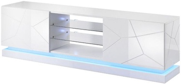 ТВ стол Cama Meble RTV Qiu 120, белый, 2000x450x570 мм