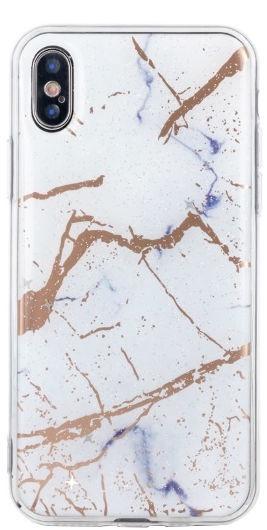TakeMe Marmur Shine Back Case For Samsung Galaxy J4 Plus J415 White