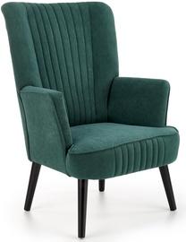 Atzveltnes krēsls Halmar Delgado Dark Green, zaļa, 75 cm x 70 cm x 100 cm