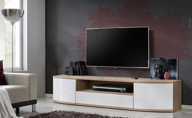 TV galds ASM RTV Ontario II San Remo Oak/White Gloss, 1900x480x430 mm