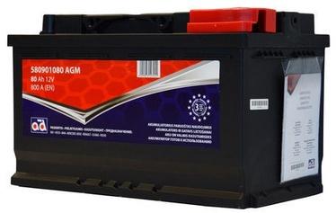 AD Baltic 580901080 Starter Battery 80Ah