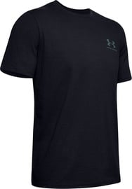 Under Armour Mens Sportstyle LC Back T-Shirt 1347880-001 Black XXL