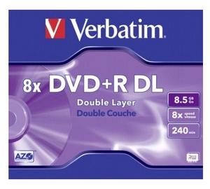 DISKS DVD-R DL 8,5 GB 8X AR BIEZU KASTI (VERBATIM)