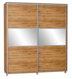 Skapis Bodzio SZP180 Dark Sonoma Oak, 180x60x210 cm, with mirror