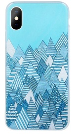 Mocco Trendy Winter Back Case For Apple iPhone XS/X Blue