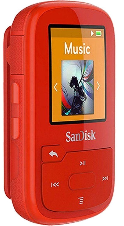 Mūzikas atskaņotājs Sandisk Sansa Clip Sport+ Red, 16 GB