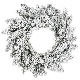 DecoKing Anne Christmas Wreath 50cm Snow