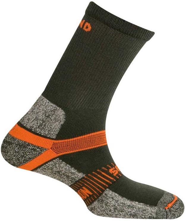 Zeķes Mund Socks Cervino Grey/Orange, 38-41, 1 gab.
