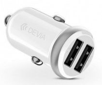 Devia Smart Series Mini Dual USB Car Charger White