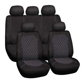 Bottari Spiderweb Seat Cover Set Black Grey