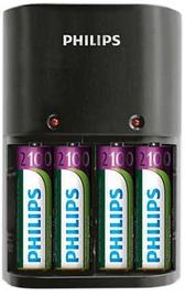 Philips Charger 4 Slots AA/AAA + AA 2100mAh x4