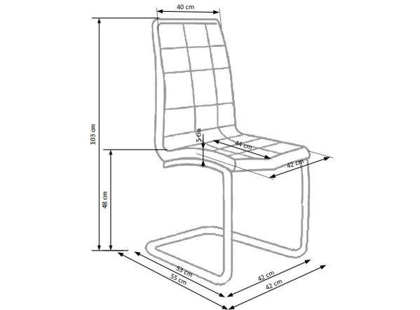 Стул для столовой Halmar K - 147, серый