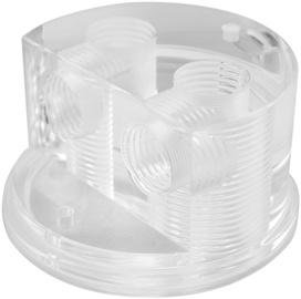 Singularity Computers Protium Quad Port Cap – Polished Acrylic