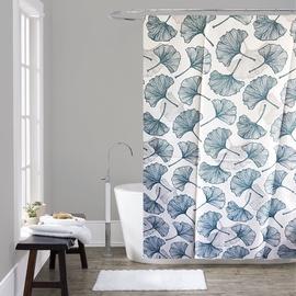 Штора для ванной Domoletti 182421H, синий/белый, 1800 мм x 1800 мм