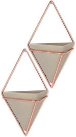 Umbra Trigg Small Wall Display Copper
