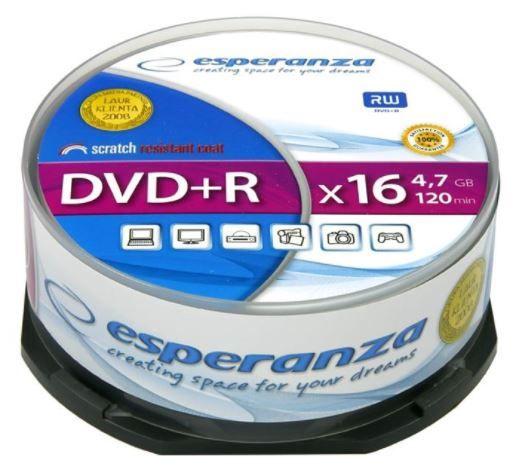 Esperanza DVD+R 4.7GB 16x 25pcs