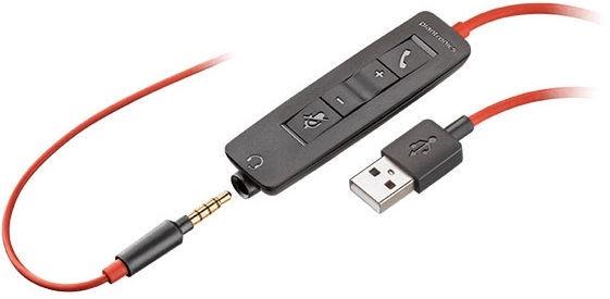 Austiņas Plantronics Blackwire C3225 USB-A Black