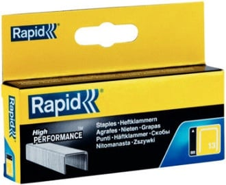 Rapid Finewire 13/8mm Yellow Staples 2500pcs