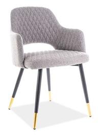 Ēdamistabas krēsls Signal Meble Franco Grey/Gold