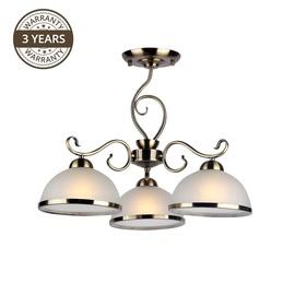 Domoletti Estera MX90746C/3 Ceiling Lamp 3x60W E27 White/Gold