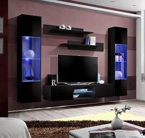 Dzīvojamās istabas mēbeļu komplekts ASM Fly O3 Black
