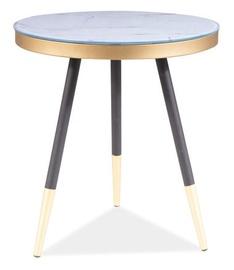 Kafijas galdiņš Signal Meble Modern Vega C, balta, 450x450x500 mm