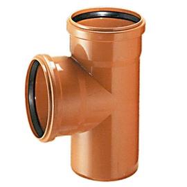 Āra kanalizācijas caurules trejgabals Wavin D110mm, 90°, PVC