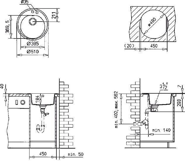 Teka Centroval 45-TG Sink Onyx