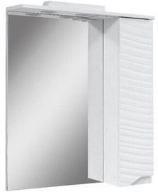 Шкаф для ванной Sanservis Atlanta-50, белый, 17x50x86.5 см (поврежденная упаковка)