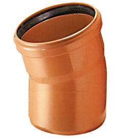 Āra kanalizācijas caurules 15° grādu līkums Wavin D110mm, PVC